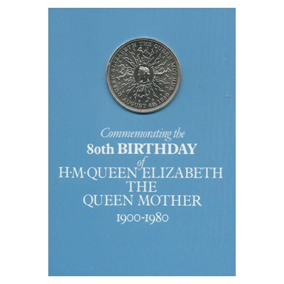 1980 BU Crown Pack - Queen Mother 80th Birthday
